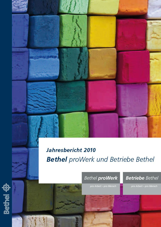 Bethel proWerk Jahresbericht 2010 - Download PDF